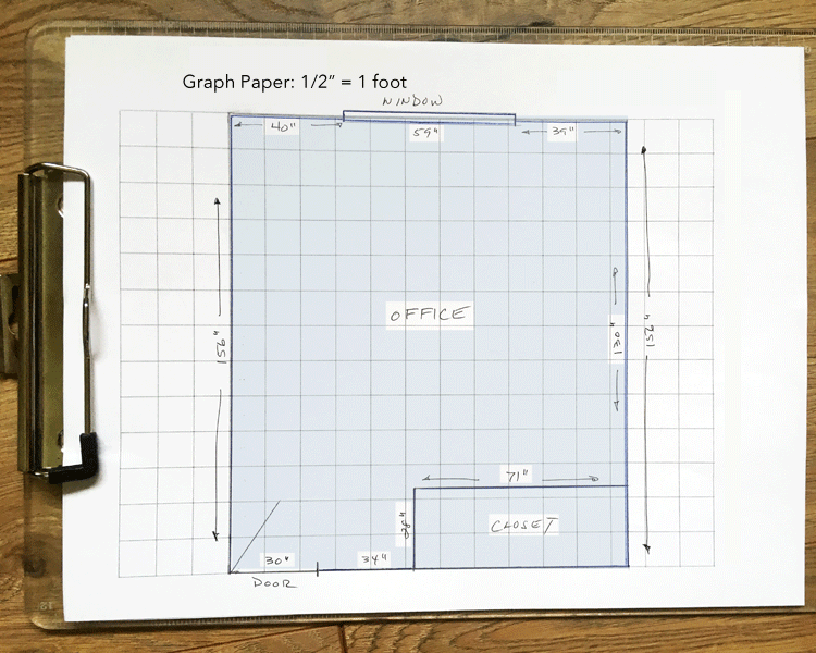 How to draw a floorpan