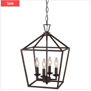 4 light pendant lamp
