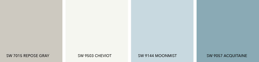 What Colors Coordinate with SW 7015 Repose Gray