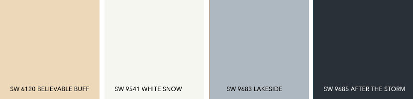 What Colors Coordinate with SW 6120 Believable Buff
