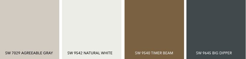 What Colors Coordinate with SW 7029 Agreeable Gray